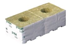 3in Rockwool Transplantation Cubes Large Hole
