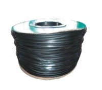 Air Line Black Silicone per Metre